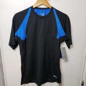 Asics Reflective Black/Blue Athletic Shirt